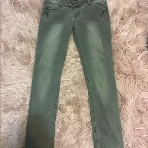 Gray jeans with silver accents